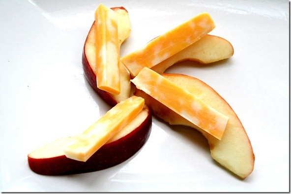 Healthier swaps: apples and cheese